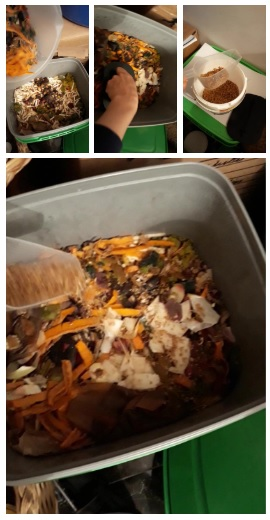 process steps of composting at home