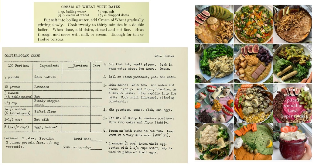 recipe texts on the left and food recipes phots on the right