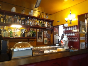 view of the bar of a coffee house