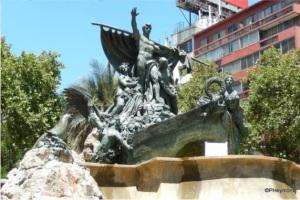 fountain bronze monument