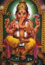 Ganesha, the Hindu god of wisdom and wealth.