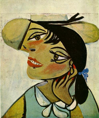 Portrait of woman in d`hermine pass (Olga), 1923, by Pablo Picasso.