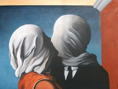 The Lovers II, 1928, by René Magritte.