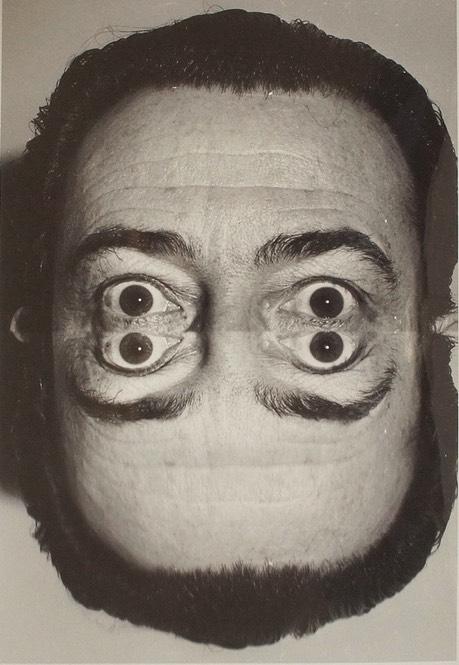 Original gelatin silver bromide print of Salvador Dali, around 1960, by Weegee.