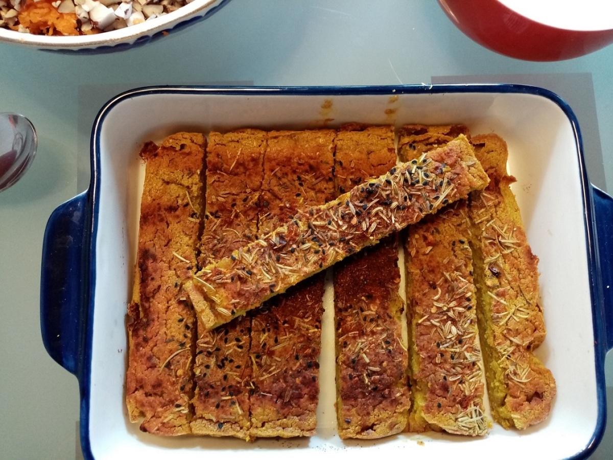 Quinoa onion flat bread / patties