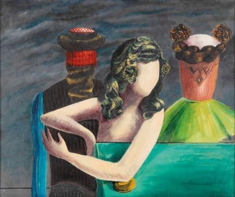 Les invités du dimanche (The Sunday Guests), 1924, by Max Ernst